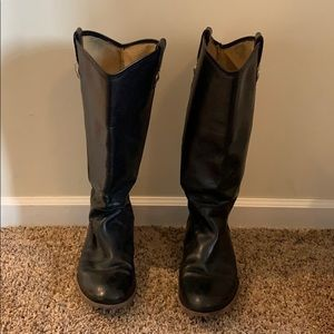 Black Frye Melissa Button riding boots